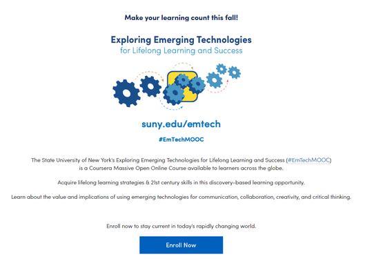 Link to Exploring Emerging Technologies (free course)